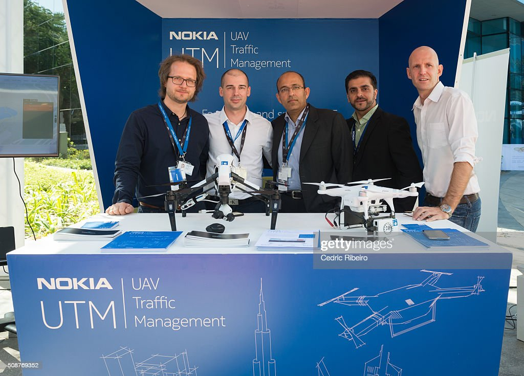 Team Nokia during The UAE AI & Robotics Award for Good at Dubai Internet City on February 6, 2016 in Dubai, United Arab Emirates where the winners of the USD 1 million international competition and the AED 1 million national competition will be announced.
