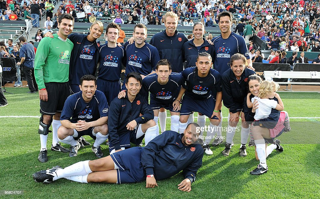 Team 'Nomar' plays in the 3rd Annual Mia Hamm & Nomar Garciaparra Celebrity Soccer Challenge at The Home Depot Center on January 16, 2010 in Carson, California.
