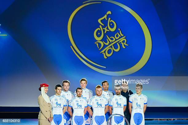 Team Novo Nordisk at the Official Opening Ceremony of the 2017 Dubai Tour at the outdoor amphitheatre in the Westin Dubai Mina Seyahi Beach Resort...