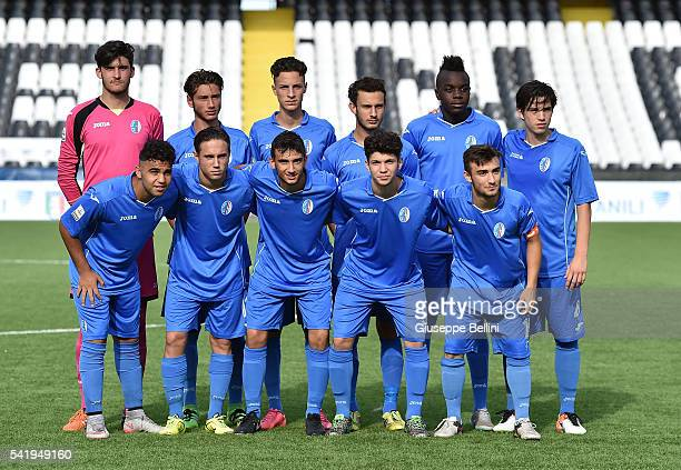 Team of AC Pavia prior the Italian U17 Supercup between Atalanta Bergamasca Calcio and AC Pavia at Dino Manuzzi Stadium on June 21 2016 in Cesena...