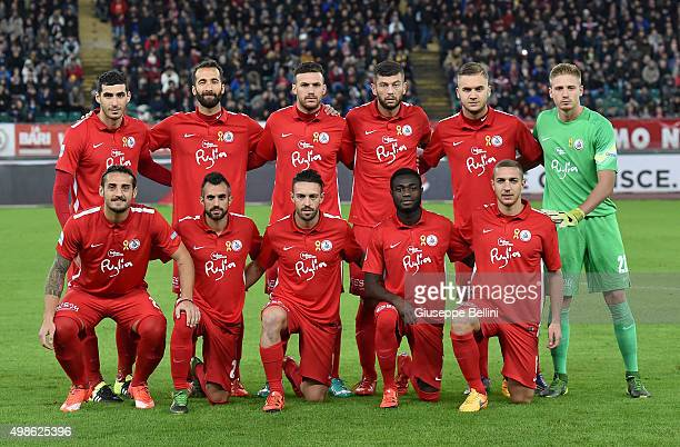 Team of AS Bari pose for a group photo before a tournament between FC Internazionale AC Milan and AS Bari at Stadio San Nicola on November 24 2015 in...