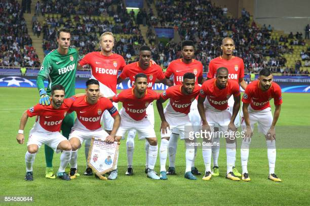 Team of AS Monaco poses prior to the UEFA Champions League group G match between AS Monaco and FC Porto at Stade Louis II on September 26 2017 in...
