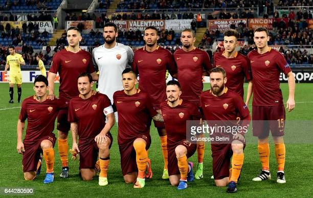 Team Of AS Roma prior the UEFA Europa League Round of 32 second leg match between AS Roma and FC Villarreal at Stadio Olimpico on February 23 2017 in...