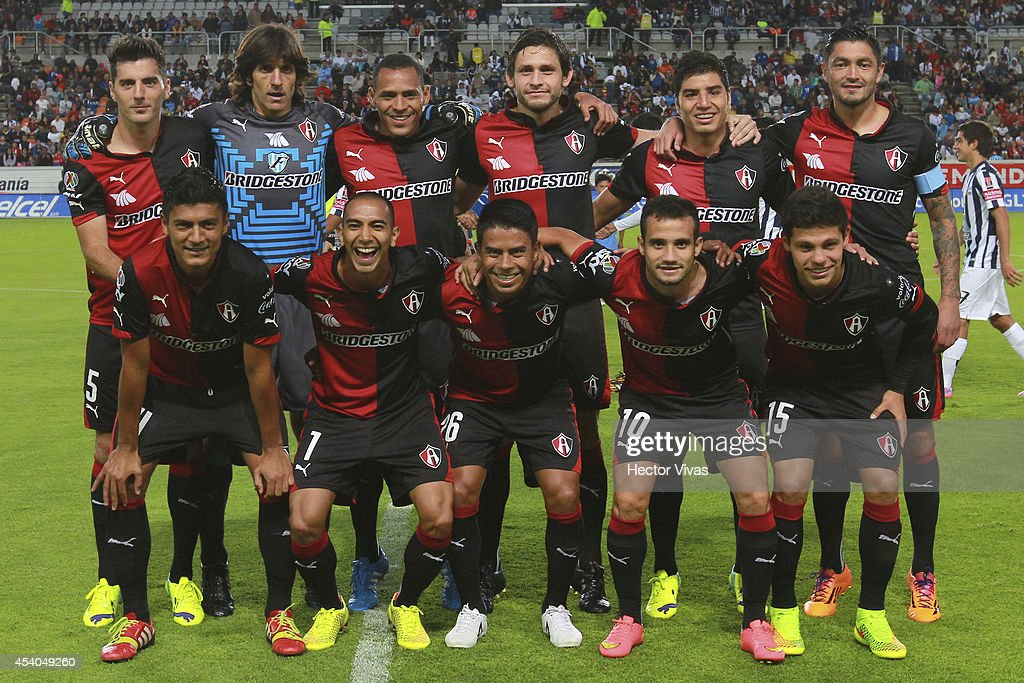 Team of Atlas pose for a photo prior a match between Pachuca and Atlas as part of 6th round Apertura 2014 Liga MX at Hidalgo Stadium on August 23, 2014 in Pachuca, Mexico.