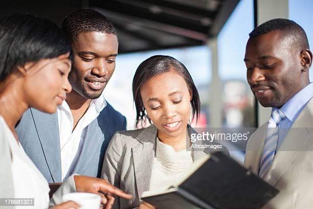 チームのビジネスマン、南アフリカ、ケープタウン