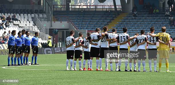 Team of Cesena before the Serie A match between AC Cesena and Cagliari Calcio at Dino Manuzzi Stadium on May 24 2015 in Cesena Italy