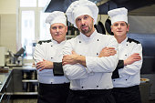 Team of chefs in the kitchen