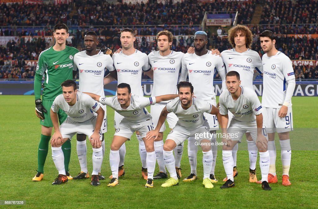 Real Madrid 2018-19 --Juventus / Man Utd Updates - Page 5 Team-of-chelsea-fc-prior-the-uefa-champions-league-group-c-match-as-picture-id868767326