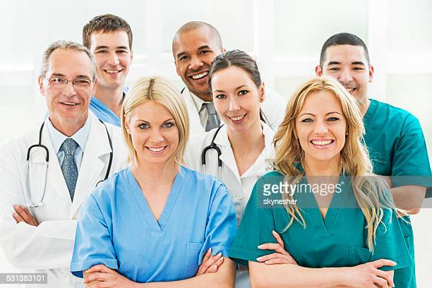 Team of doctors and surgeons.