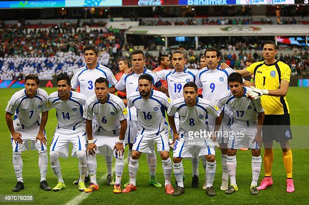 Team of El Salvador poses prior the match between Mexico and El Salvador as part of the 2018 FIFA World Cup Qualifiers at Azteca Stadium on November...