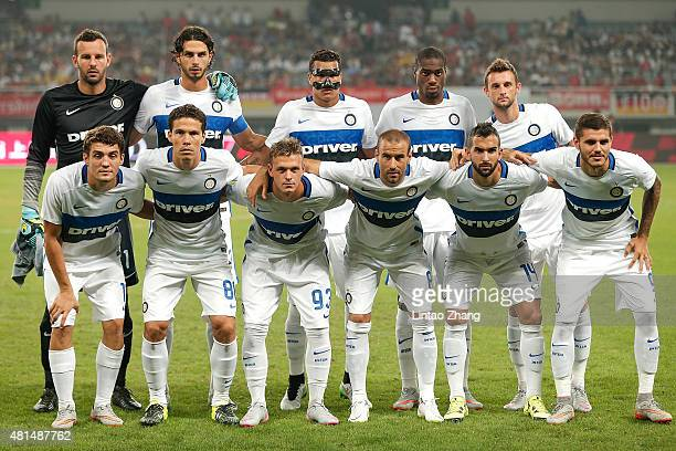 Team of FC Internazionale pose for a photo befor during the international friendly match between FC Bayern Muenchen and Inter Milan of the Audi...