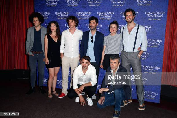 Team of Film 'Les Etoiles Restantes' attend Closing Ceremony of 6th Champs Elysees Film Festival on June 22 2017 in Paris France