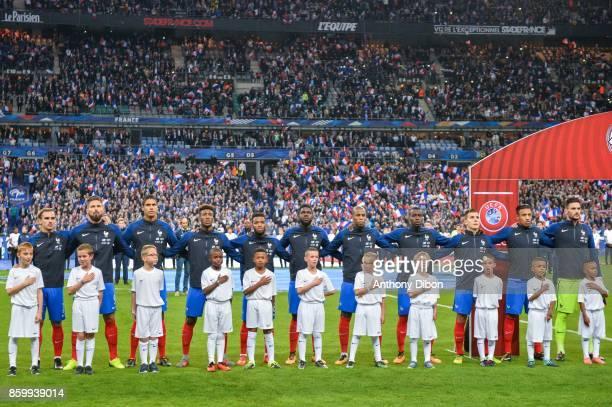Team of France Antoine Griezmann Olivier Giroud Raphael Varane Kingsley Coman Thomas Lemar Samuel Umtiti Djibril Sidibe Blaise Matuidi Lucas Digne...