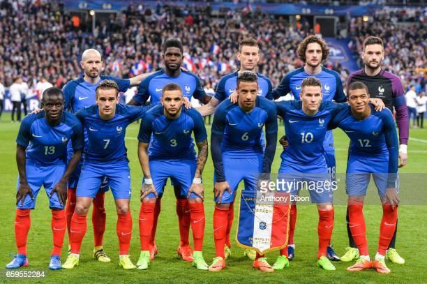 Team of France Christophe Jallet Samuel Umtiti Laurent Koscielny Adrien Rabiot and Hugo LLoris Ngolo Kante Antoine Griezmann Layvin Kurzawa Corentin...