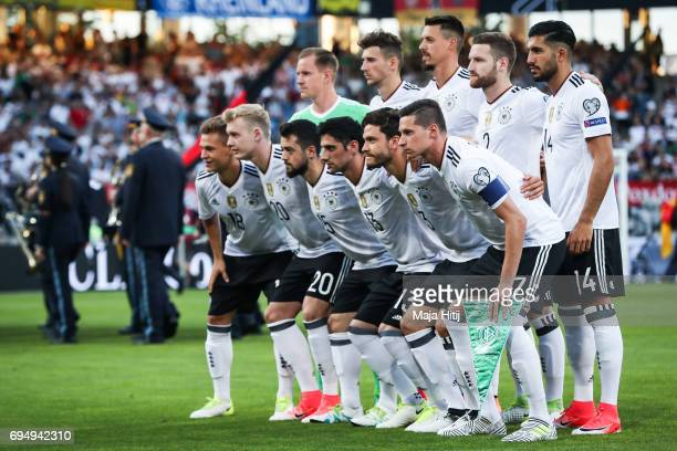 Team of Germany poses for a team photo prior to the FIFA 2018 World Cup Qualifier between Germany and San Marino on June 10 2017 in Nuremberg Bavaria