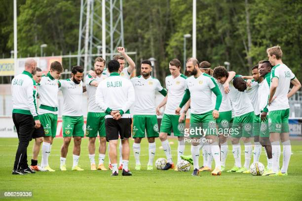Team of Hammarby IF before the Allsvenskan match between IK Sirius FK and Hammarby IF at Studenternas IP on May 21 2017 in Uppsala Sweden