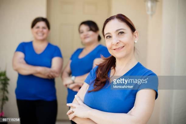Team der hispanischen Frauen