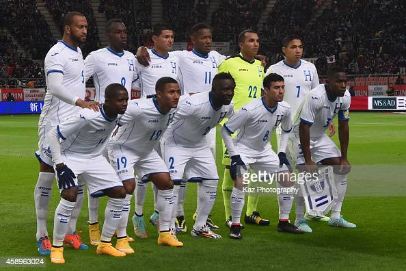 Team of Honduras during the international friendly match between Japan and Honduras at Toyota Stadium on November 14 2014 in Toyota Japan