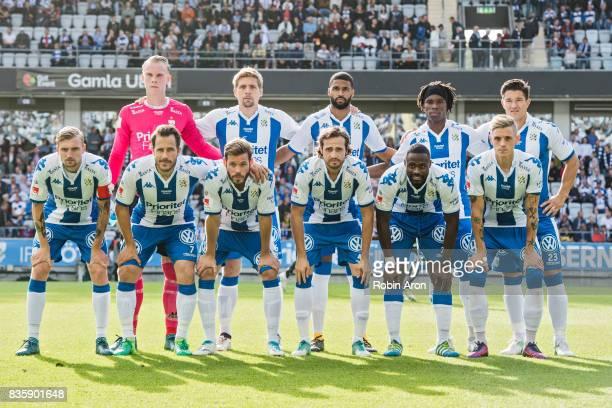 Team of IFK Goteborg before the Allsvenskan match between IFK Goteborg and BK Hacken at Gamla Ullevi on August 20 2017 in Gothenburg Sweden