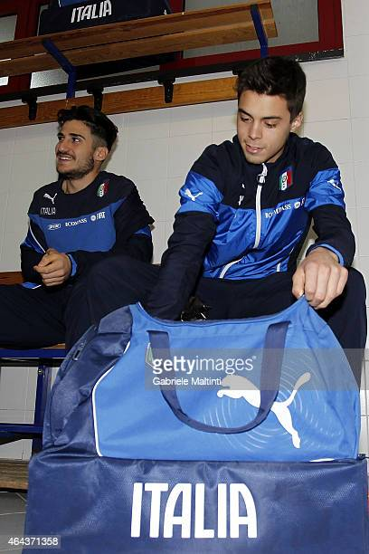 Team of Italy in dressing room before during the international friendly match between Italy U20 and Qatar U20 on February 25 2015 in Montelupo...