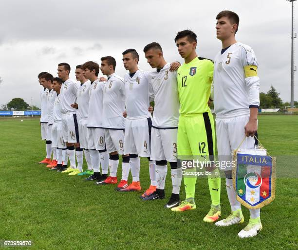 Team of Italy U15 prior the Torneo delle Nazioni match between Italy U15 and UAE U15 on April 27 2017 in Gradisca d'Isonzo Italy