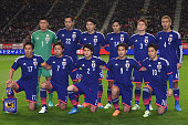 Team of Japan during the international friendly match between Japan and Honduras at Toyota Stadium on November 14 2014 in Toyota Japan