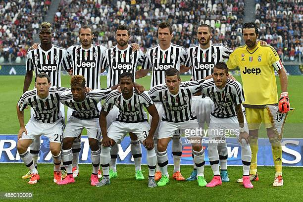 Team of Juventus FC line up during the Serie A match between Juventus FC and Udinese Calcio at Juventus Arena on August 23 2015 in Turin Italy