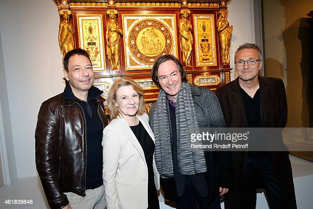 Team of 'Le Systeme' Theater Piece Curator of the Exhibition Patrick Hourcade President of the Versailles Castle Catherine Pegard Autor Antoine Rault...