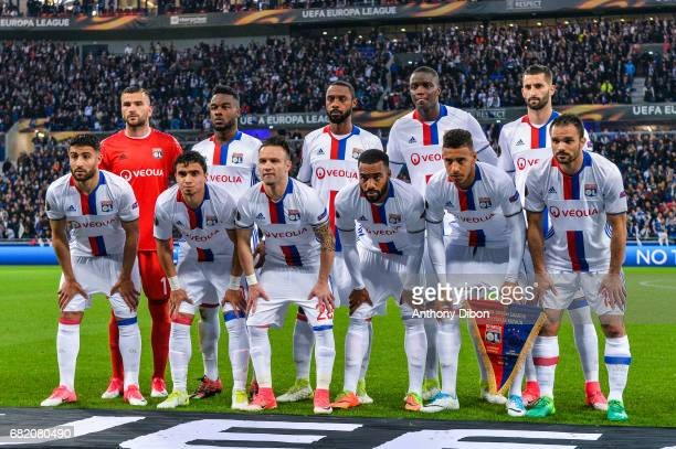 Team of Lyon Goalkeeper Anthony Lopes Maxwel Cornet Nicolas Nkoulou Mouctar Diakhaby and Maxime Gonalons Nabil Fekir Rafael Mathieu Valbuena...