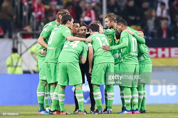 Team of Moenchengladbach prior the Telekom Cup 2017 match between Borussia Moenchengladbach and 1 FSV Mainz 05 at EspritArena on January 14 2017 in...