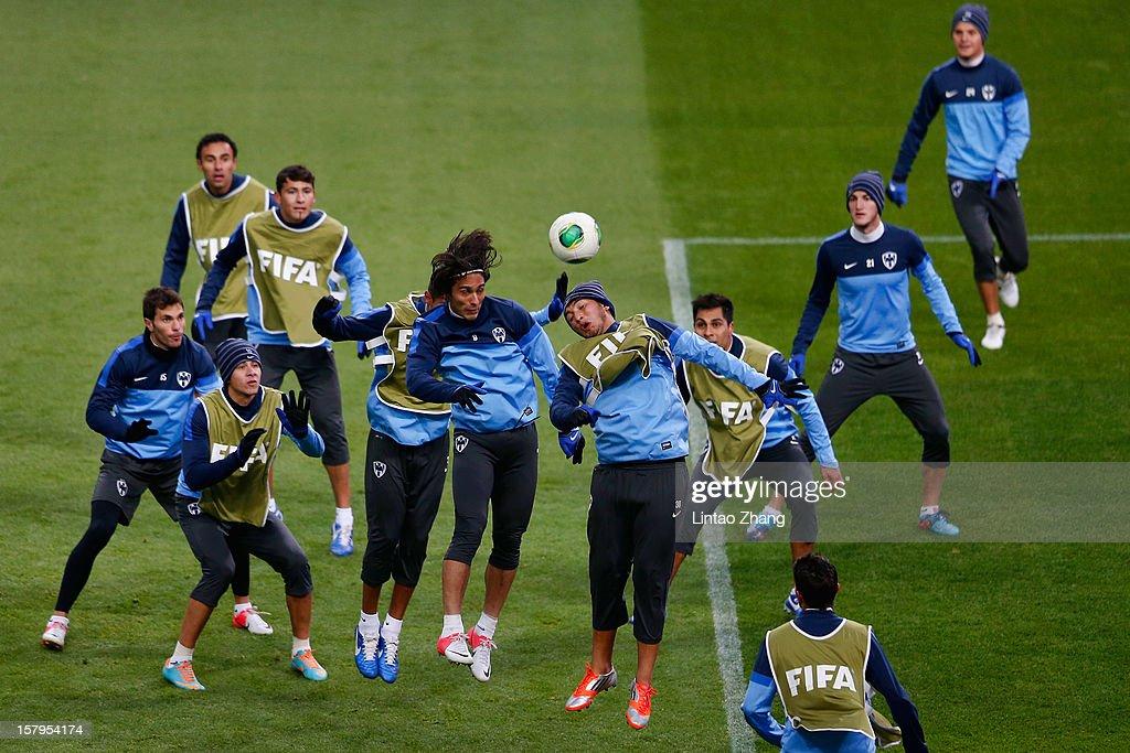 Team of Monterrey during CF Monterrey training session at Toyota Stadium on December 8, 2012 in Toyota, Japan.