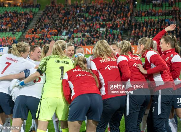 Team of Norway during the FIFA 2018 World Cup Qualifier between Netherland and Norway at Noordlease Stadion on October 24 2017 in Groningen