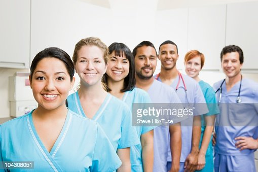 Team of nurses and doctors