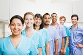 Team of nurses and doctors