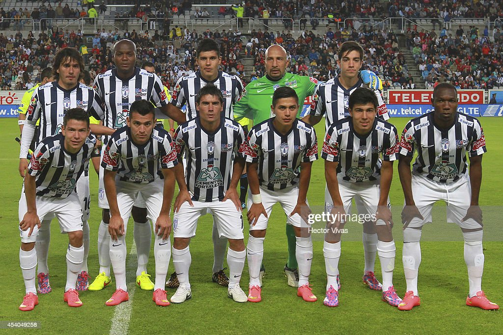 Team of Pachuca pose for a photo prior a match between Pachuca and Atlas as part of 6th round Apertura 2014 Liga MX at Hidalgo Stadium on August 23...