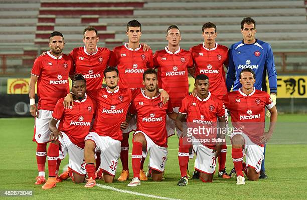 Team of Perugia before the preseason friendly match between AC Perugia and Carpi FC at Stadio Renato Curi on August 1 2015 in Perugia Italy
