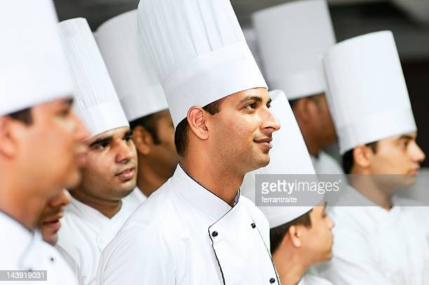 Team of professional chefs