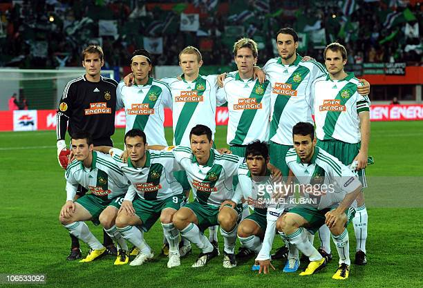 Team of Rapid Vienna pose before the UEFA Europa league group L football match between Rapid Vienna and CSKA Sofia on November 4 2010 in Vienna AFP...