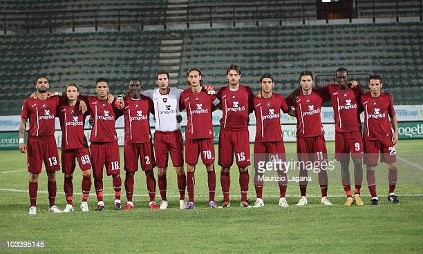 Team of Reggina Calcio pose before the Coppa Italia match between Reggina and Alessandria at Stadio Oreste Granillo on August 15 2010 in Reggio...