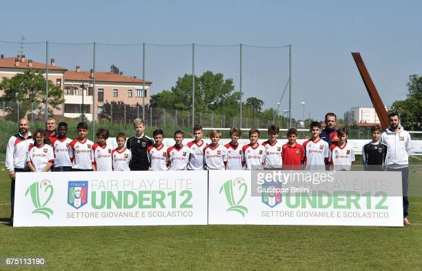 Team of Sestese Calcio SSD prior to Fair Play Elite Danone Nations Cup 2017 in Imola on April 30 2017 in Imola Italy
