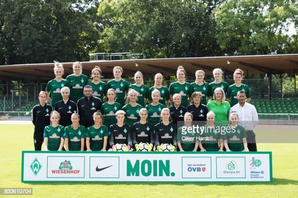 Team of SV Werder Bremen Back Lina Hausicke Katharina Schiechtl Stephanie Goddard Giovanna Hoffmann Meggie Schroeder Jessica Golebiewski LisaMarie...