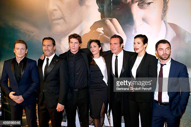 Team of the movie Actor Benoit Magimel actor Gilles Lellouche Director Cedric Jimenez his companion scenarist Audrey Diwan actors Jean Dujardin...