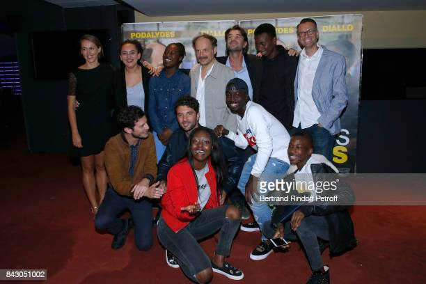 Team of the movie actor Denis Podalydes director Olivier AyacheVidal actor Abdoulaye Diallo and others actors attend the 'Les grands Esprits' Paris...