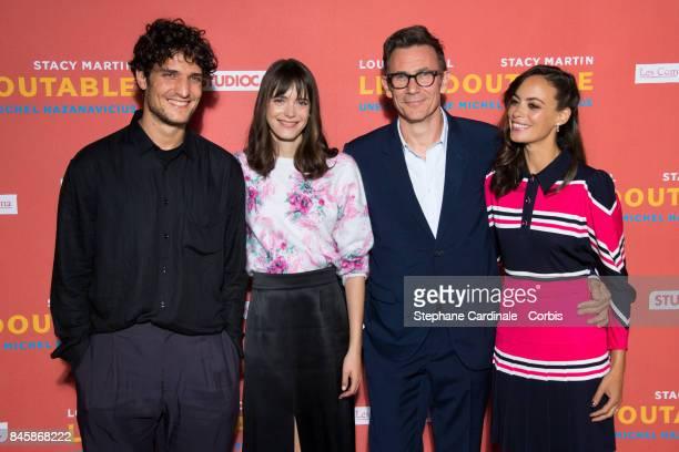 Team of the Movie Actors Louis Garrel Stacy Martin director Michel Hazanavicius and actress Berenice Bejo attend the 'Le Redoutable' Paris Premiere...