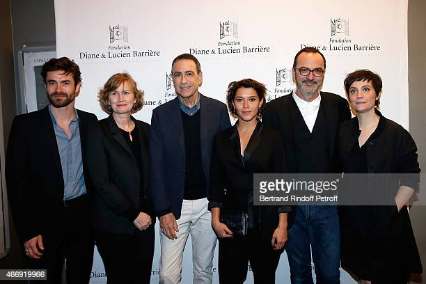 Team of the movie Actors Yannick Renier Christine Brucher Alain Chamfort Emma de Caunes Director Olivier Jahan and actress Jeanne Rosa attend movie...