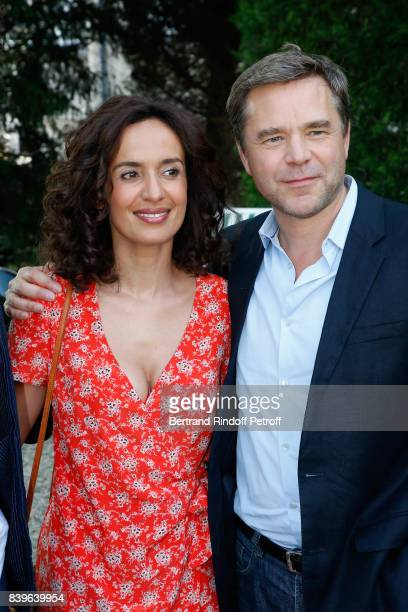 Team of the movie 'Coexister' actors Amelle Chahbi and Guillaume de Tonquedec attend the 10th Angouleme FrenchSpeaking Film Festival Day Five on...