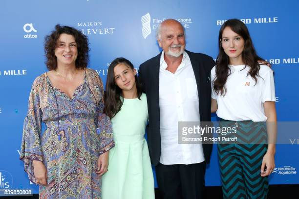 Team of the movie ' Demain et tous les autres jours' director Noemie Lvovsky actress Luce Rodriguez producer JeanLouis Livi and actress Anais...