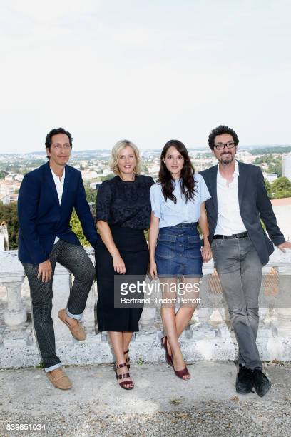 Team of the movie 'Jalouse' CoDirector Stephane Foenkinos actresses Karin Viard Anais Demoustier and codirector David Foenkinos attend the 10th...