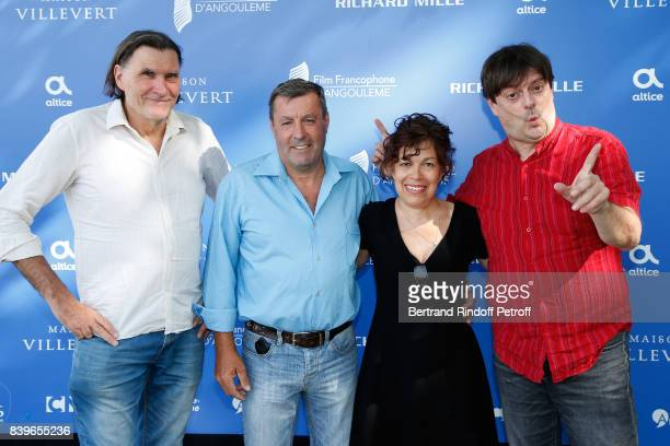 Team of the movie 'Jour de peche' actor JeanHugues Lime director Nan Aurousseau actors Catherine Artigala and Fabien Kachev attend the 10th Angouleme...