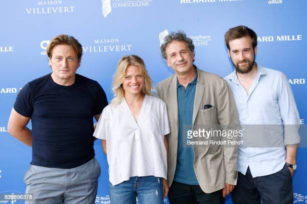 Team of the movie 'La douleur' actors Benoit Magimel Melanie Thierry director Emmanuel Finkiel and Gregoire LeprinceRinguet attend the 10th Angouleme...